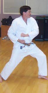 Martin Schwarz making kata heian godan when he was a brown belt.